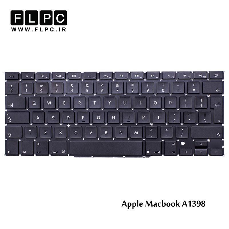 کیبورد لپ تاپ اپل مشکی اینتر بزرگ بدون فریم /Apple Laptop Keyboard Macbook Pro A1398 Black