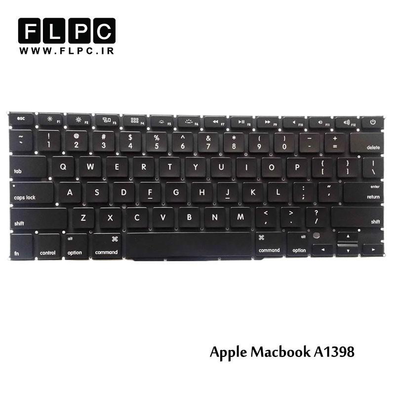 کیبورد لپ تاپ اپل مشکی اینتر کوچک بدون فریم /Apple Laptop Keyboard Macbook Pro A1398 Black