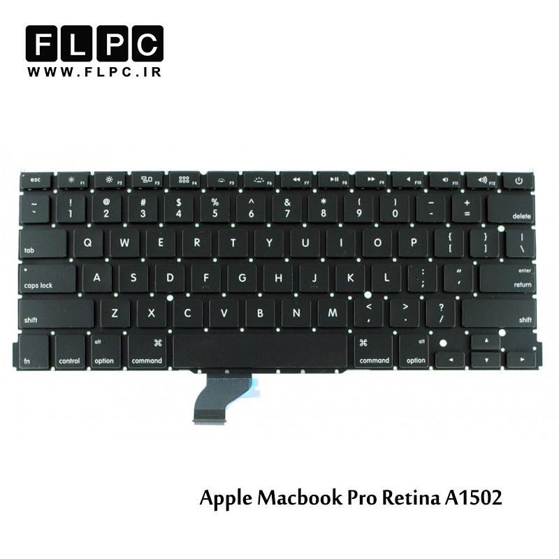 کیبورد لپ تاپ اپل مشکی اینتر کوچک Apple Laptop Keyboard Macbook Pro A1502 Black
