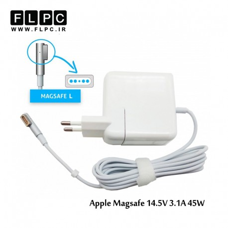 آداپتور لپ تاپ اپل Apple Adaptor Magsafe1 14.5V 3.1A 45W بدون پک