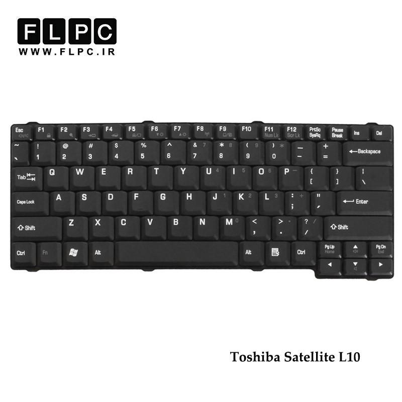 کیبورد لپ تاپ توشیبا Toshiba Satellite L10 Laptop Keyboard مشکی-با پیچ