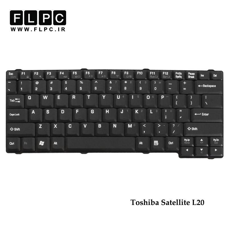 کیبورد لپ تاپ توشیبا Toshiba Satellite L20 Laptop Keyboard مشکی - با پیچ