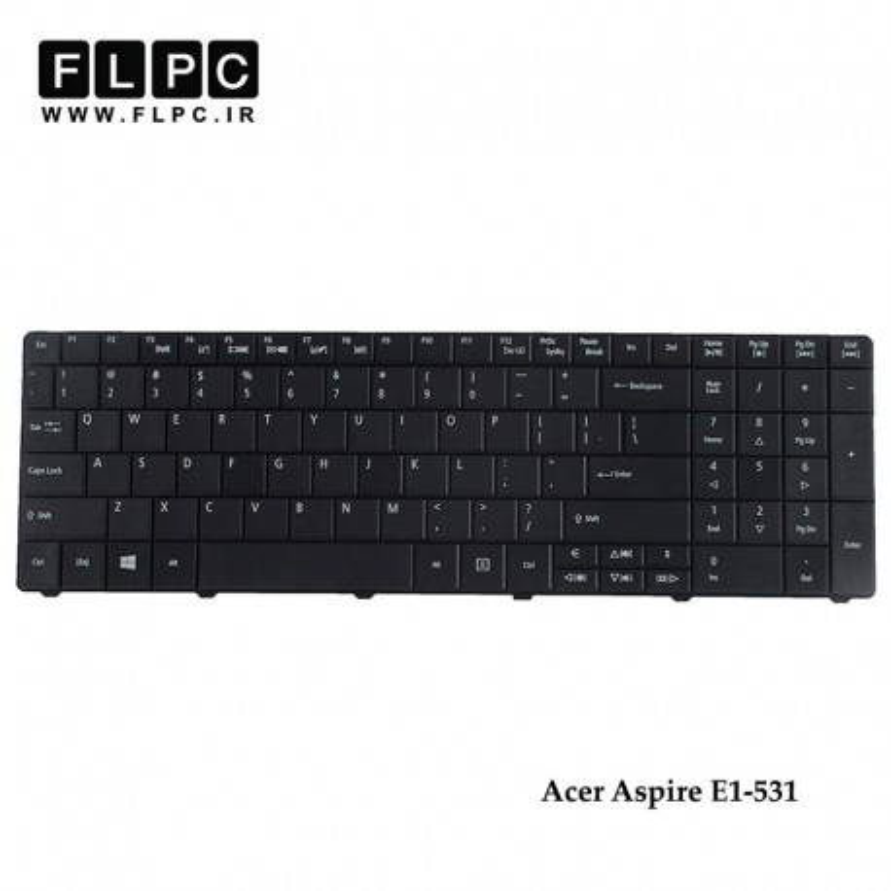 تصویر کیبورد لپ تاپ ایسر E1-531 مشکی - با دکمه پهن Acer Aspire E1-531 Laptop Keyboard