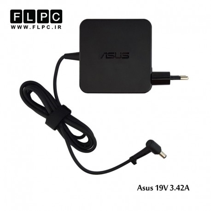 آداپتور لپ تاپ ایسوس 19 ولت 3.42 آمپر مربعی /Asus Laptop Adaptor 19V 3.42A Square