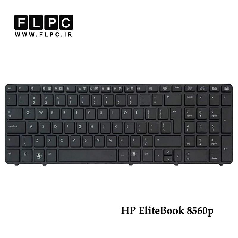 کیبورد لپ تاپ اچ پی 8560P مشکی - بدون موس - سه پیچ HP EliteBook 8560p Laptop Keyboard