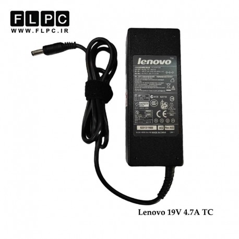 آداپتور لپ تاپ لنوو 19 ولت 4.7 آمپر / Lenovo Laptop Adaptor 19V 4.7A TC