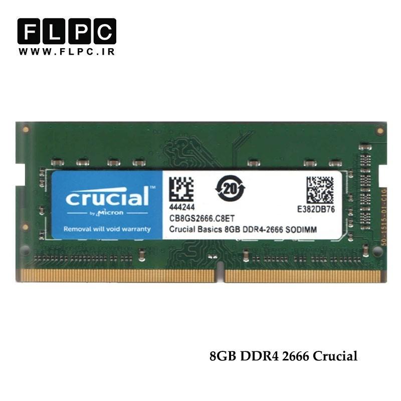 رم لپ تاپ 8 گیگابایت باس 2666 کروشیال Crucial 8GB DDR4 2666 Laptop Ram